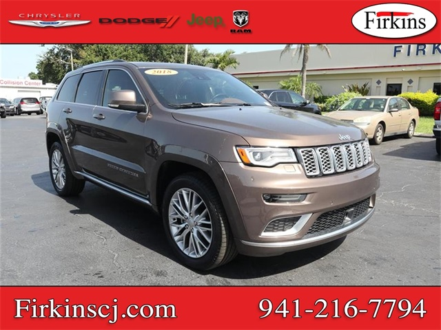 Certified Pre-Owned 2018 Jeep Grand Cherokee Summit